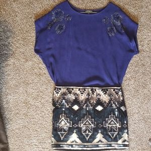 Blue blouse from Express